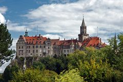 Sigmaringen Castle-castle and seat of government for the Princes of Hohenzollern Stock Photos
