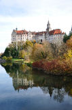 Sigmaringen Castle and Donau. View of Sigmaringen Castle and Donau at autumn time, Swabian Mountains, Baden-Wuerttemberg, Germany Stock Images