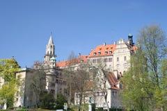 Sigmaringen castle, Germany. Schloss Sigmaringen in Baden-Wuerttemberg region, Germany stock photo