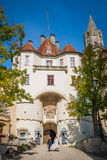 Sigmaringen - Germany. Sigmaringen, Germany - October 2, 2013: Main Gateway of the Sigmaringen Castle Royalty Free Stock Photography