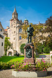 Sigmaringen - Germany. Sigmaringen, Germany - October 2, 2013: View of the Karl Anton Square in Sigmaringen and the statue of Prince Karl Anton of Hohenzollern Royalty Free Stock Photos