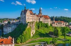 Sigmaringen slott, Baden Wurttemberg, Tyskland Arkivbild