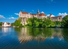 Sigmaringen slott, Baden Wurttemberg, Tyskland arkivbilder