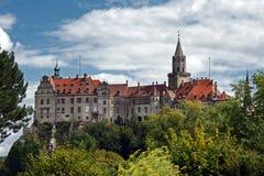 Sigmaringen Slott-slott och plats av regeringen för prinsarna av Hohenzollern Arkivfoton