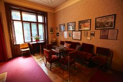 Sigmund弗洛伊德房子内部在维也纳 免版税库存图片
