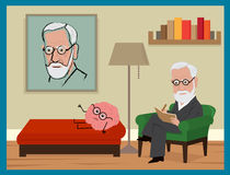 Sigmund Freud Cartoon Stock Photo