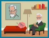 Sigmund Freud Cartoon Stock Photo