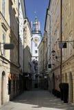 Sigmund Haffner Gasse Street in Salzburg Stock Photography