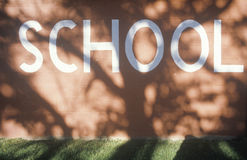 Sign: �School�, Walsenburg, CO Stock Image