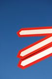 Sign 05. Traffic sign over blue sky Royalty Free Stock Image