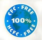 Sign 100% CFC, HCFC-free Stock Image