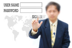 Sign in Royalty Free Stock Photo