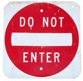 Sign. Do not enter red sign Royalty Free Stock Photos