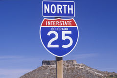 A sign for the 25 north Royalty Free Stock Photo