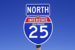 A sign for the 25 north Stock Photos