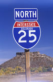 A sign for the 25 north Stock Images