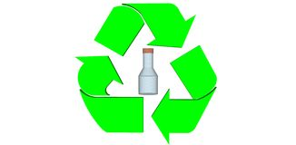 Sign. Recycle isolate on white background Royalty Free Stock Photos