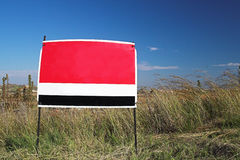 Sign #3. Red sign against blue sky royalty free stock image