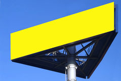 Sign. A three-cornered ikea sign and blue sky Stock Image