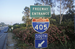 A sign for the 405 San Diego Stock Image