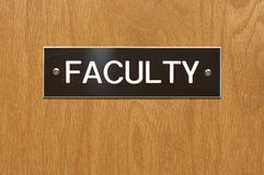 Sign. Faculty sign Royalty Free Stock Photo