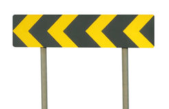 Sign. Traffic left arrow signage isolated Royalty Free Stock Images