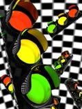 Sign. Traffic light or semaphore illustrated Royalty Free Stock Image