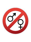Sign. Traffic sign of man and woman Royalty Free Stock Photo