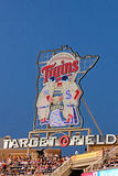 The Sign Above Target Field Stock Photography