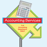 Sign Accounting Department Royalty Free Stock Image