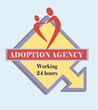 Sign adoption agency Royalty Free Stock Images