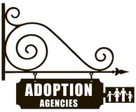 Sign adoption Royalty Free Stock Photography
