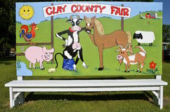 Sign advertising a rural county fair Royalty Free Stock Photography