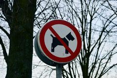 Sign against dog poop Royalty Free Stock Photos