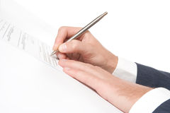 Sign agreement Royalty Free Stock Photography
