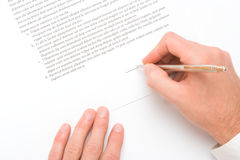 Sign agreement Stock Photography