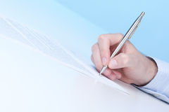 Sign agreement Royalty Free Stock Photo