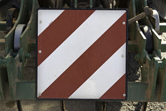 Sign in agricultural vehicle Stock Images