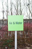 Sign for Air and water refilling at service station Royalty Free Stock Photos