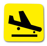 Sign airplane Stock Images