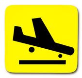 Sign airplane Royalty Free Stock Photo