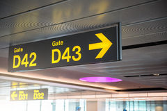 Sign in airport Stock Photo