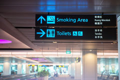 Sign in airport Royalty Free Stock Photography