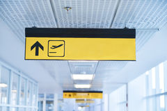 Sign in airport. The Sign in airport: departure Stock Image