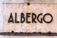 Sign albergo Royalty Free Stock Photo