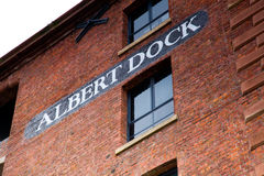 Sign at Albert Dock, Liverpool, UK Royalty Free Stock Photography