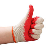 Sign all well done with gloves Stock Image