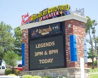 Sign at the American Bandstand Theater, Branson Missouri. Nestled in the heart of the Ozark Mountains, Branson is a truly remarkable vacation destination Stock Images