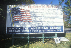 A sign for the American Legion Royalty Free Stock Photo