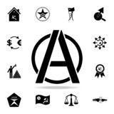 A sign of anarchy icon. Detailed set of communism and socialism icons. Premium graphic design. One of the collection icons for. Websites, web design, mobile app stock illustration